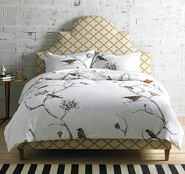 modern bird bedding