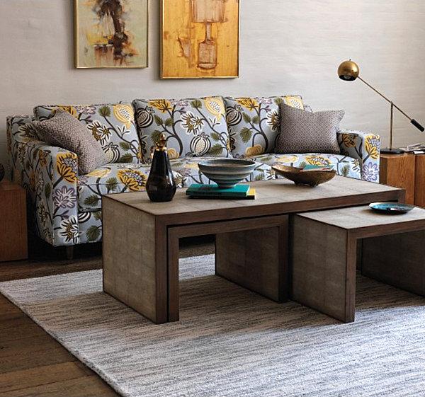 modern floral patterned sofa