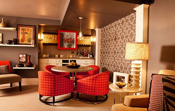 modern-plaid-upholstery-chairs-in-red