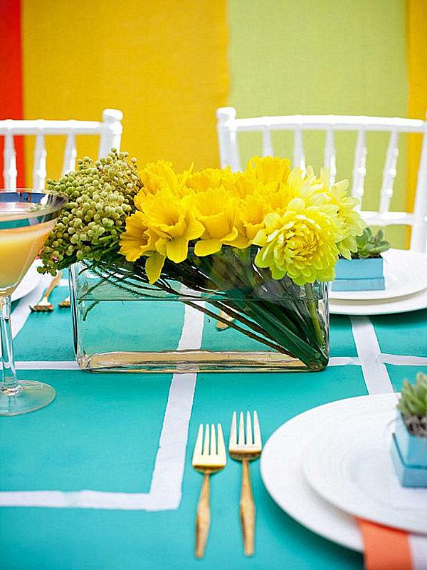 modern yellow floral arrangement