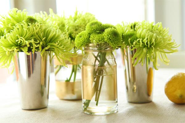 Baby shower vase centerpiece ideas
