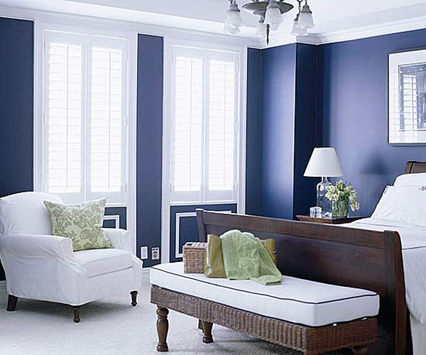 Blue And White Decor from navy to aqua: summer decor in shades of blue