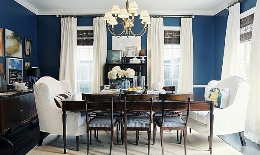 Etonnant Dining Out In Your New Navy Blue Dining Room