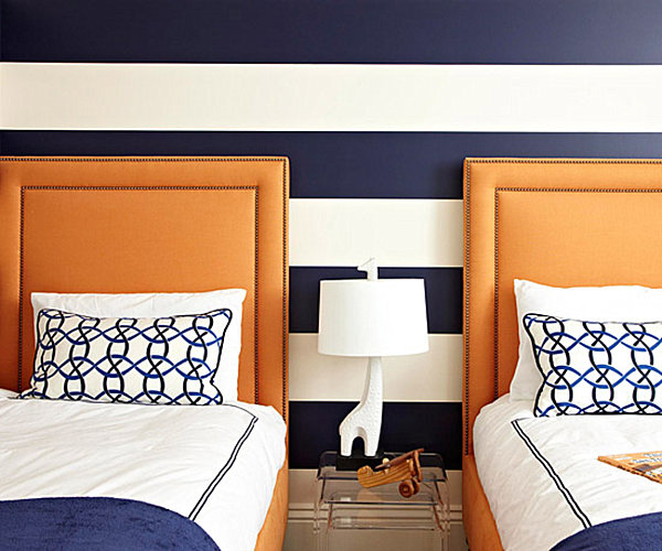 Behr Orange Rooms With Navy Accent Wall: From Navy To Aqua: Summer Decor In Shades Of Blue