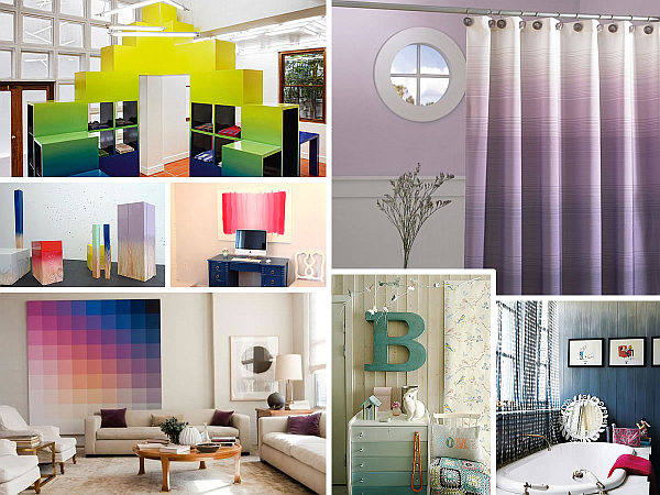 Ombre Design create a color gradient with ombre design