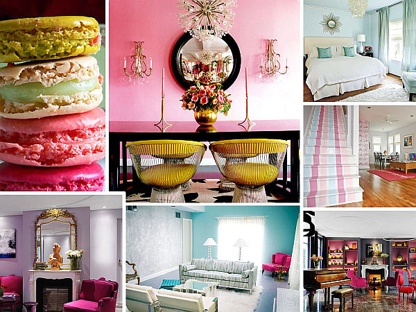 pastel colors interior decoration