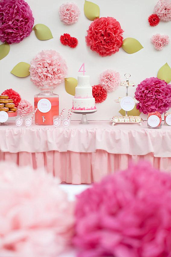 pink girl's birthday party