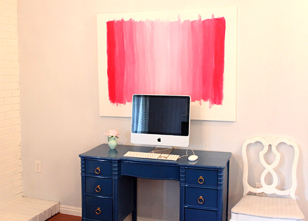 pink-ombre-wall-art