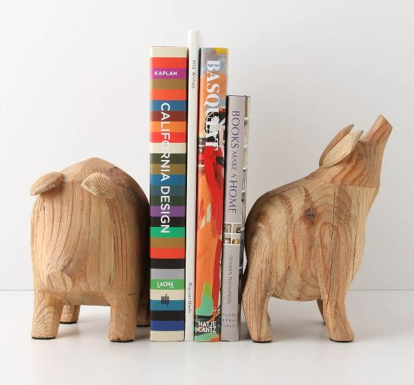potbelly pig bookends