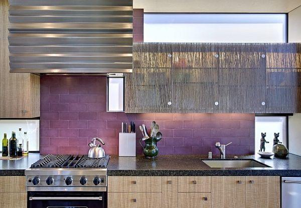 purple kitchen backsplash
