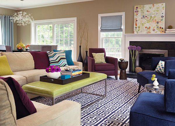 Purple Living Rooms decorating with purple: purple rooms designs