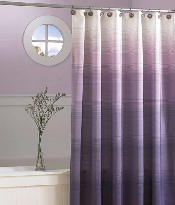 alfa img showing plum and grey shower curtains