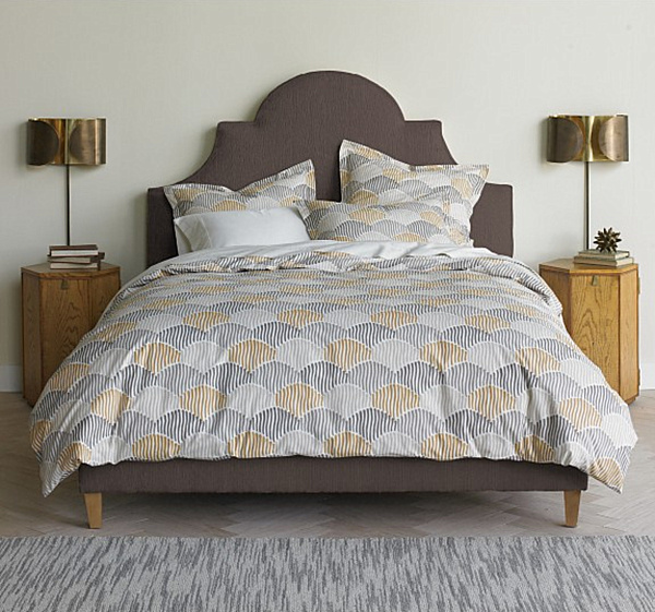 scalloped bedding.png Stunning Summer Bed and Bath Decor