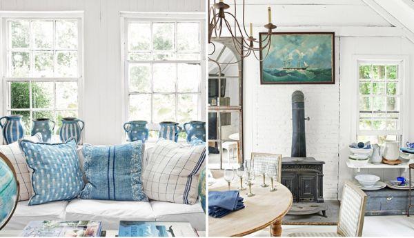 ship inspired new york loft – blue and white decor
