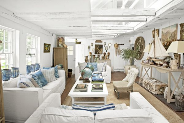 ship inspired new york loft living room Truly unique New York home is crafted from a salvaged old schooner