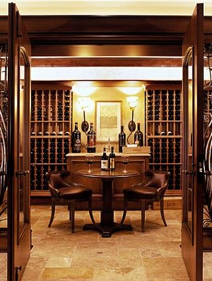 Highly stylish wine cellar design