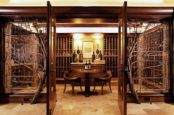 View In Gallery Highly Stylish Wine Cellar Design ...