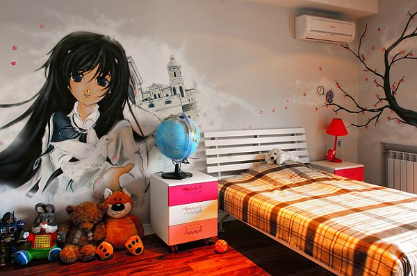 teenage girl bedroom with big graffiti wall Vandalizing your Home With Graffiti: The Messy Art That Speaks Volumes