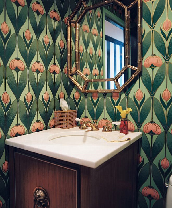 Make a splash with tropical interior design for Art nouveau bathroom design
