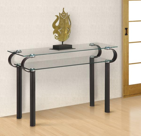 two-level console table
