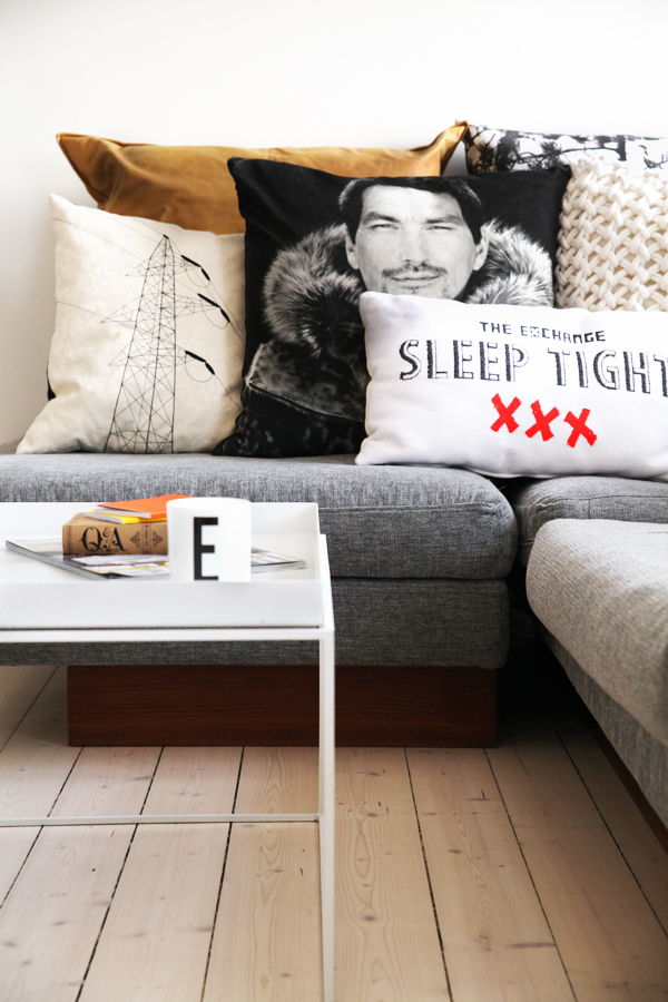 typography couch design