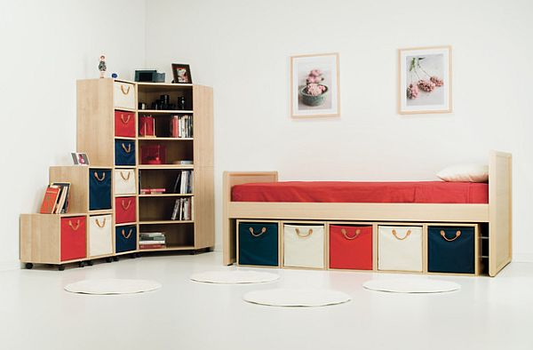 Kids Bedroom With Under Bed Storage Containers