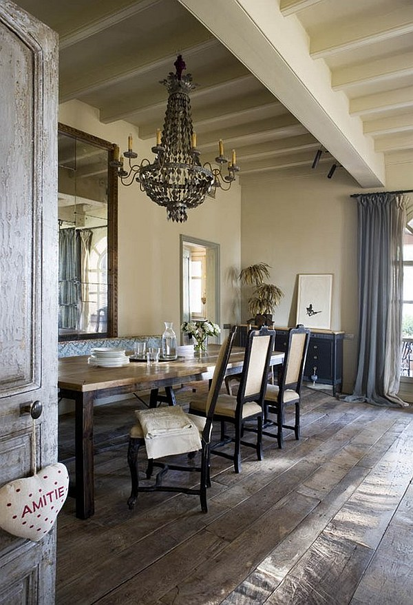 Decorating with a vintage farmhouse inspiration for Retro dining room ideas