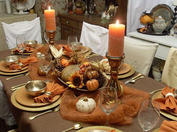 vintage farmhouse – fall table decorations