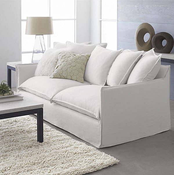 Sofa style 20 chic seating ideas for White linen sectional sofa