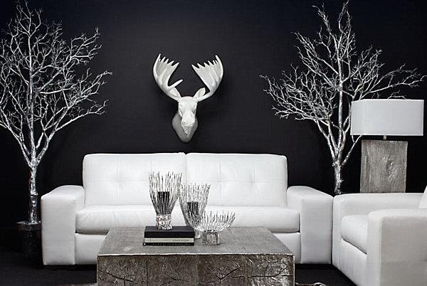 white resin moose head