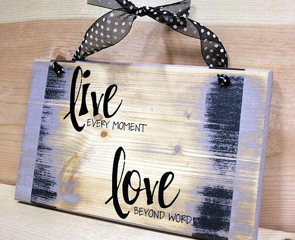 wood paint typography