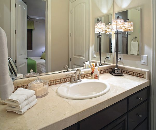 Bathroom decorating ideas inexpensive bathroom makeover for Bathroom countertop accessories