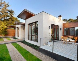 Contemporary Green Home Charms With Sleek Pool and Mini Golf Course