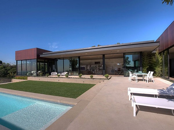 Contemporary Home in California pool terrace Contemporary Home in California Showcases Indulgence with Style