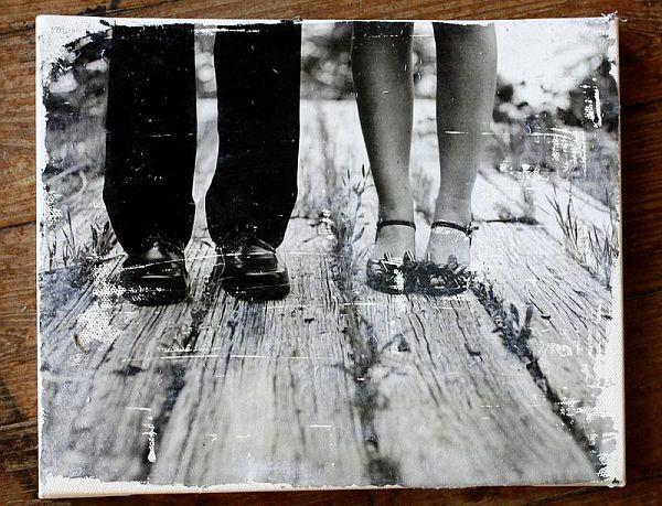 DIY photo gallery – canvas