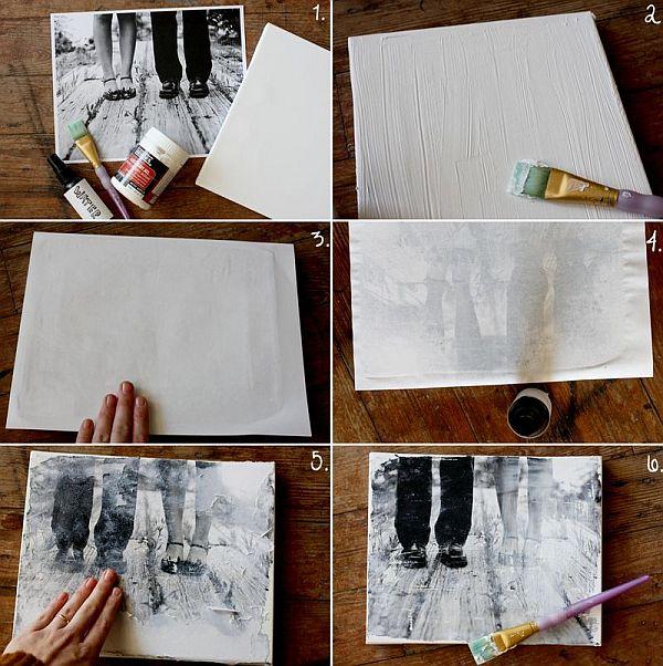 DIY transfer photo to canvas