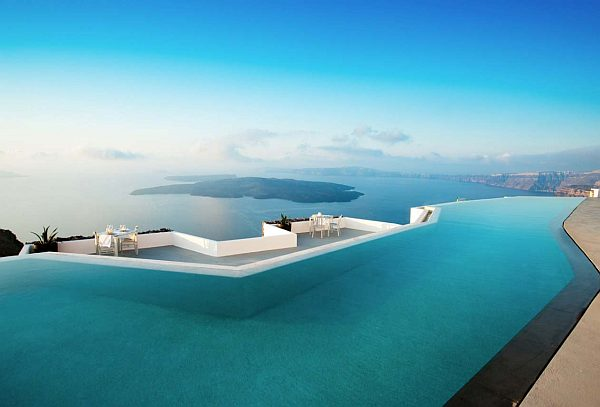 Grace Hotel pool side – santorini, greece