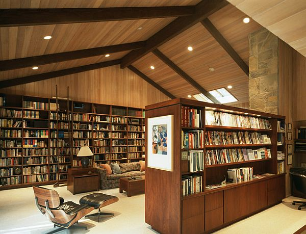 Huge home library design Creative Home Library Designs For a Unique Atmosphere