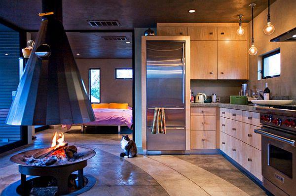 Corner kitchen cabinets with stylish knobs