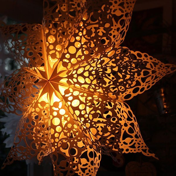 Lace Doily Paper Star Lantern Decoist