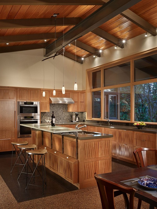 Lake Forest Park Renovation – all wood kitchen