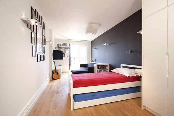 London House Jubilee bedroom design Contemporary London House For a Working Mom & a Man United Fan