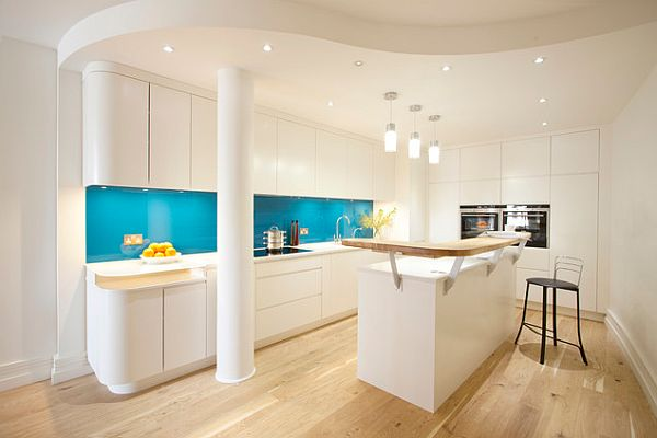 London House white kitchen Contemporary London House For a Working Mom & a Man United Fan