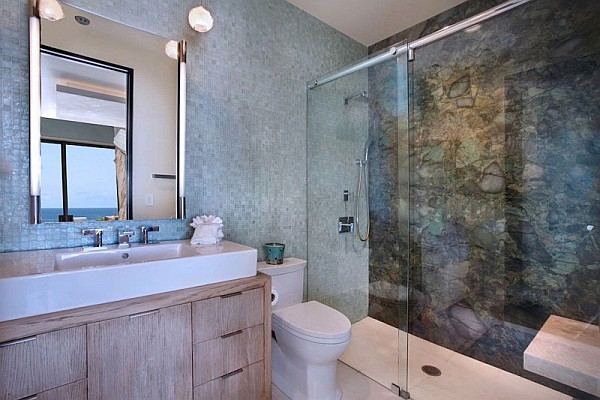 Coastal Bathroom Tile Ideas: California Beach House Spells Luxury And Class