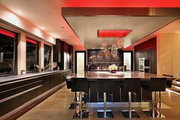 Luxury Beach House, Laguna Beach, California – sleek modern kitchen furniture
