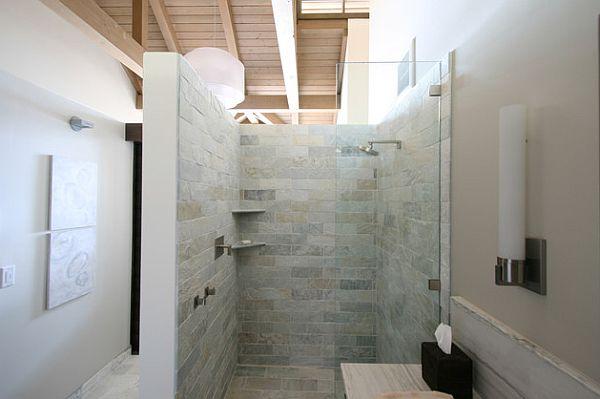 Master bathroom shower box