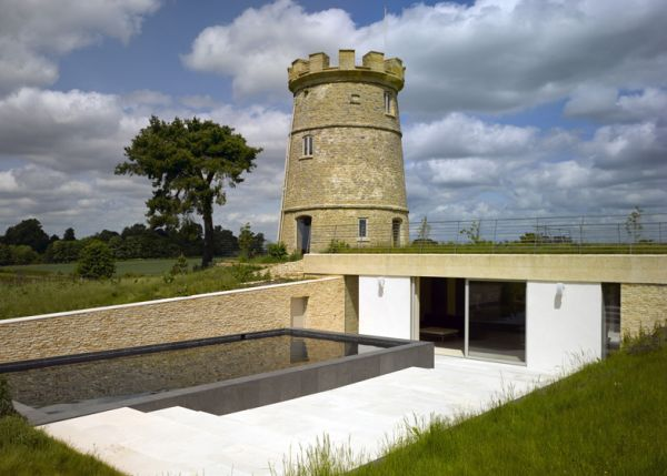 Round Tower swimming pool1 Lonely turret adopted and reconversed