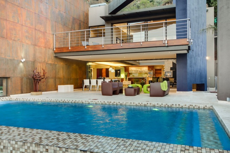 South African House Remodeling – modern patio at the pool