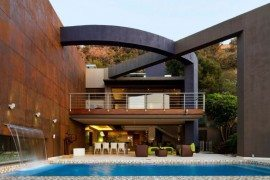 South African House Remodeling - outdoor patio with stylish pool
