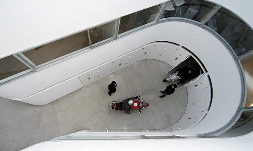 Modern curves: Japanese apartment shapes up to please bike enthusiasts